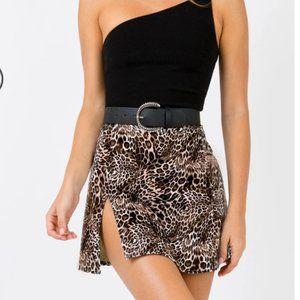 BNWT Princess Polly Leopard Skirt